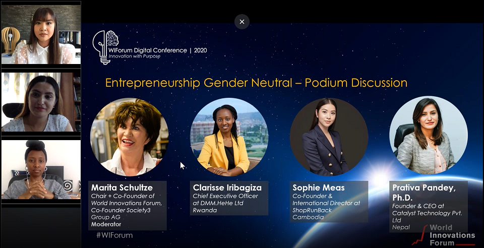WIForum Digital Conference_Female Entrepreneurship Podium